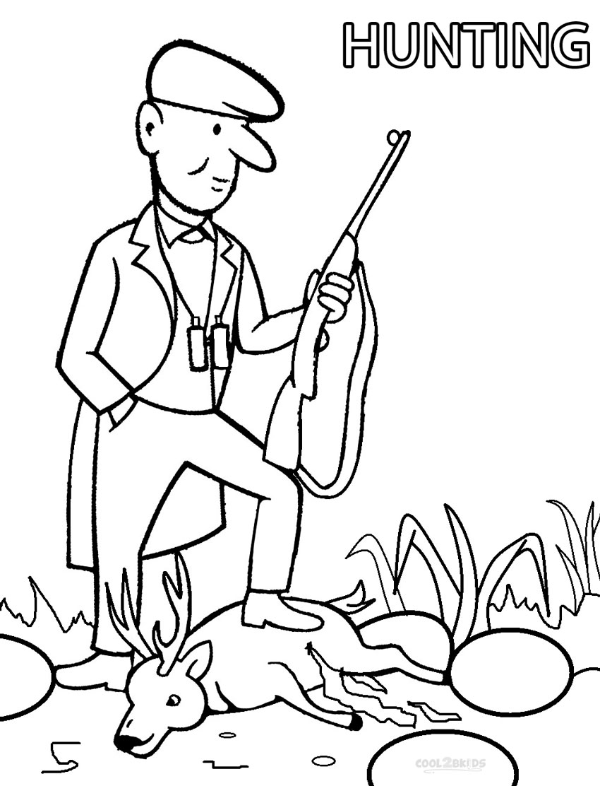 850x1112 Printable Hunting Coloring Pages For Kids