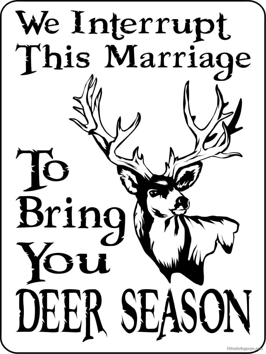 1128x1500 With Deer Hunting Coloring Pages