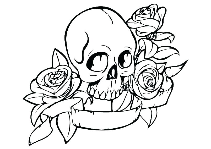 805x569 Skull Coloring Books For Adults With Printable Sugar Skull