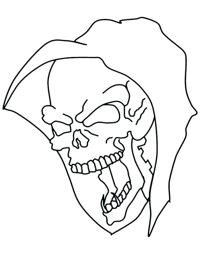 687x888 Printable Skull