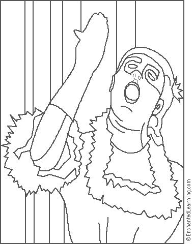 381x480 Degas Singer With A Glove Coloring Page