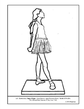 270x350 Degas Little Dancer, Aged Years Coloring Page Lesson Plan Ideas