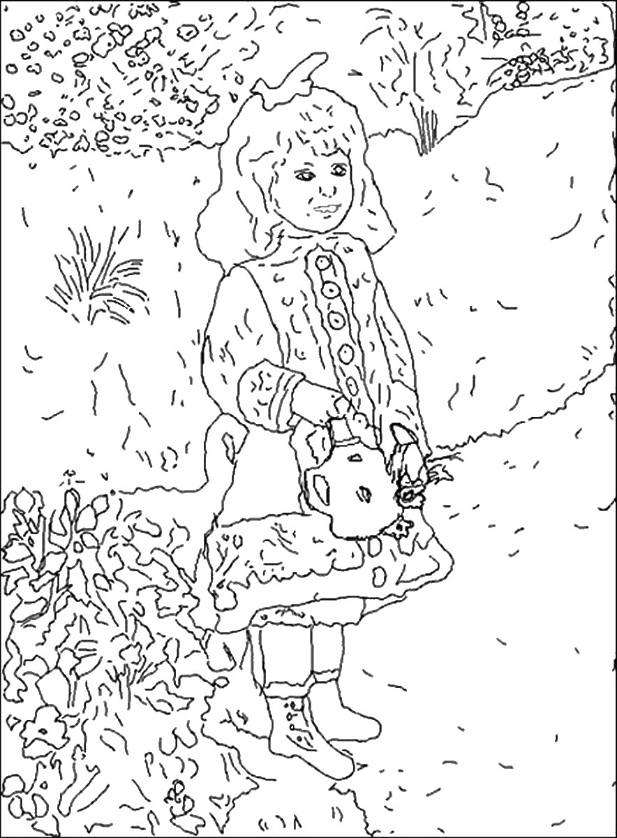 884x1200 Famous Painters And Paintings Coloring Pages