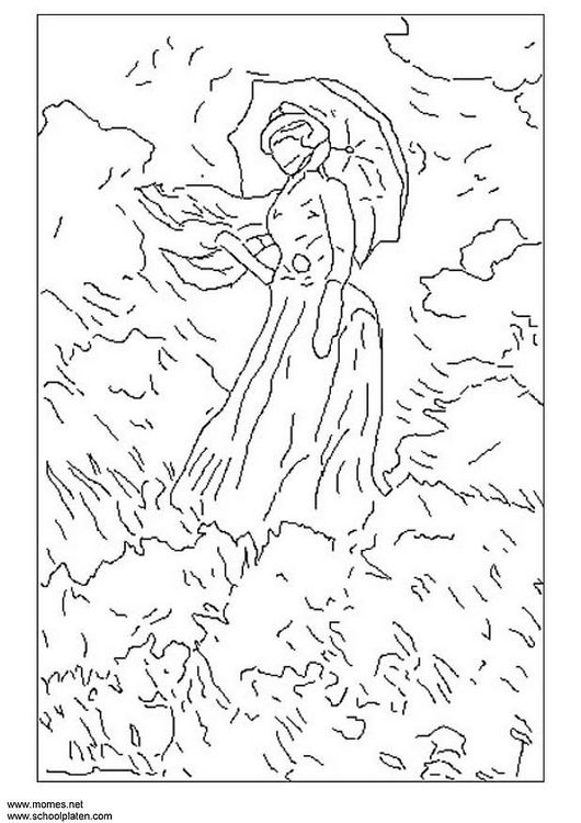 530x750 Free Printable Famous Art Colouring Pages For Kids Updated