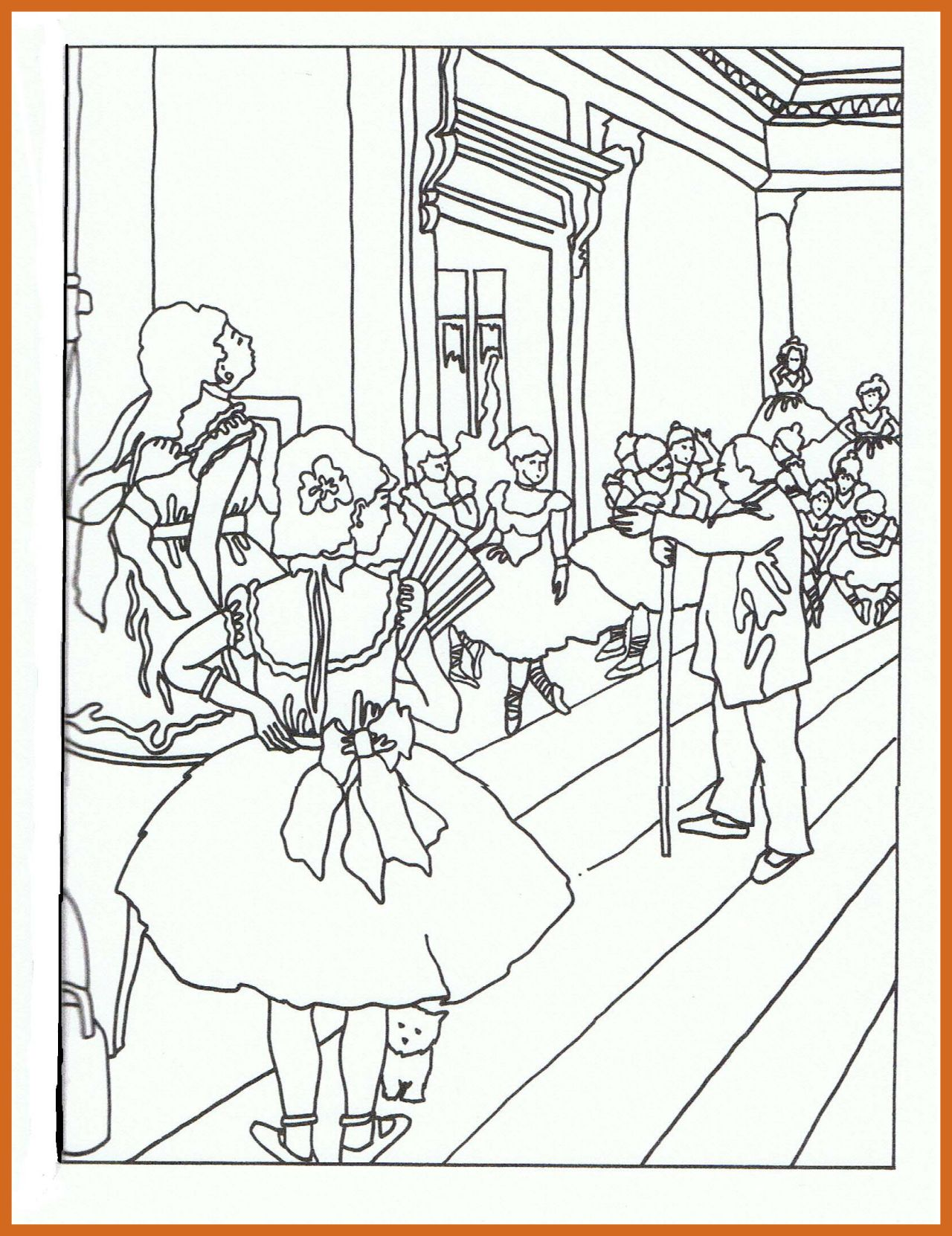 1280x1662 Inspiring Famous Painters And Paintings Coloring Pages For Artist