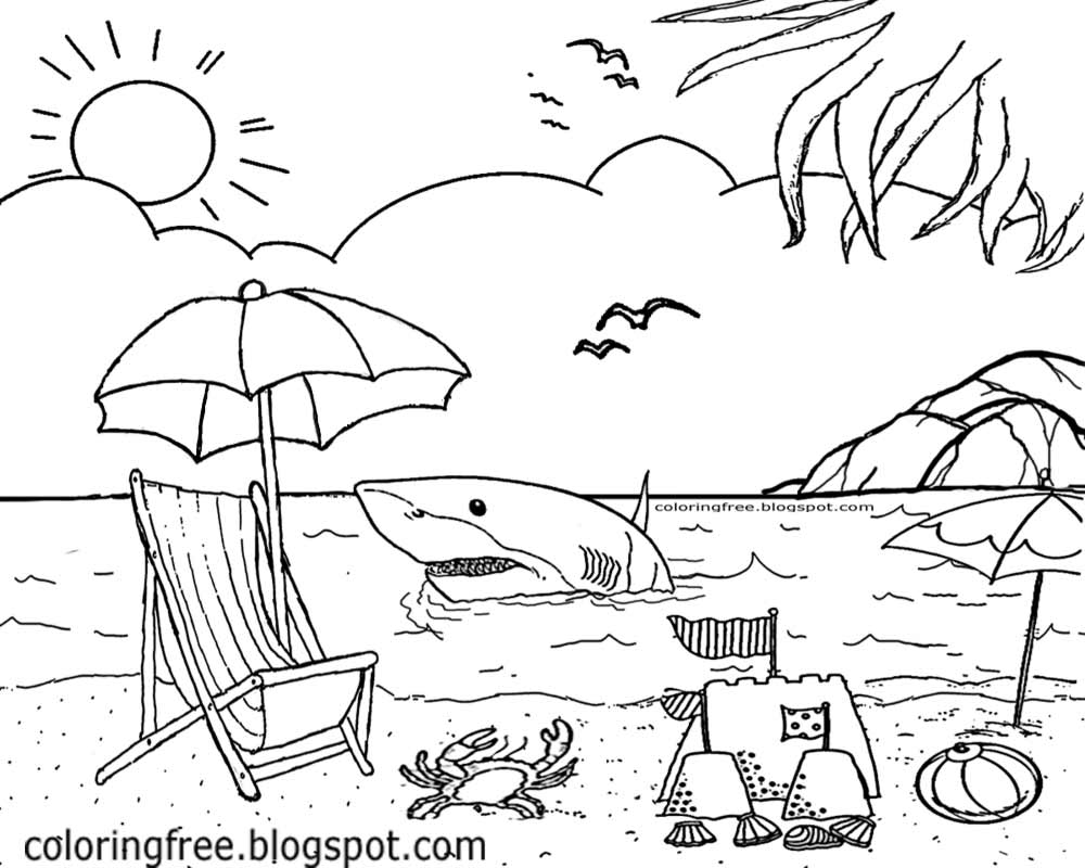 1000x800 Last Minute Seashore Coloring Pages Free Print