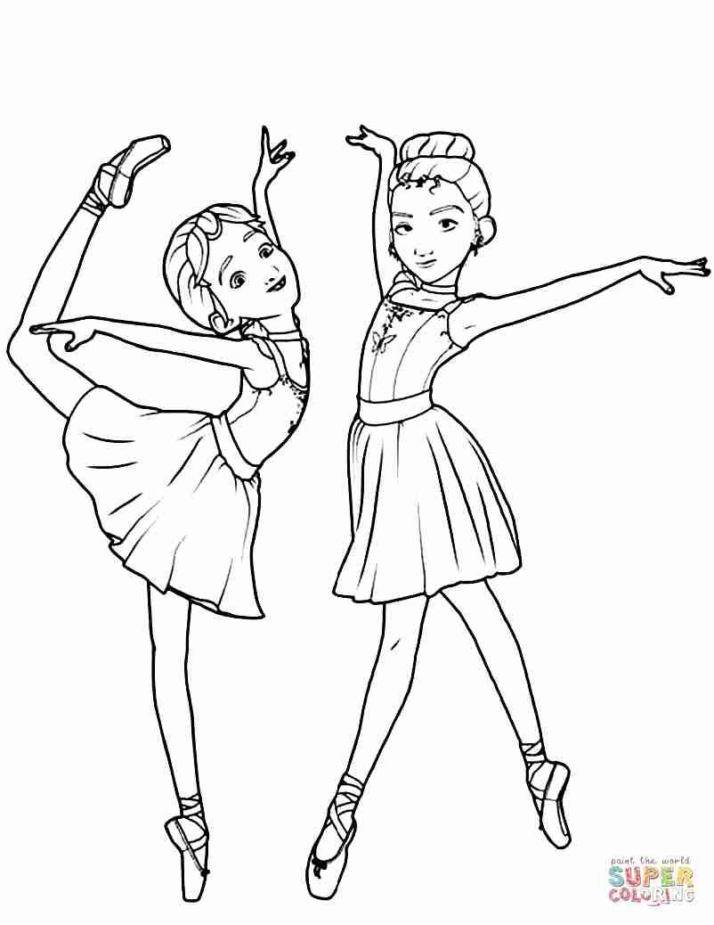 802x1038 Leap Ballerina Coloring Pages Free Tearing Olegratiy