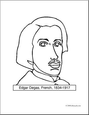 304x392 Clip Art Artists Edgar Degas
