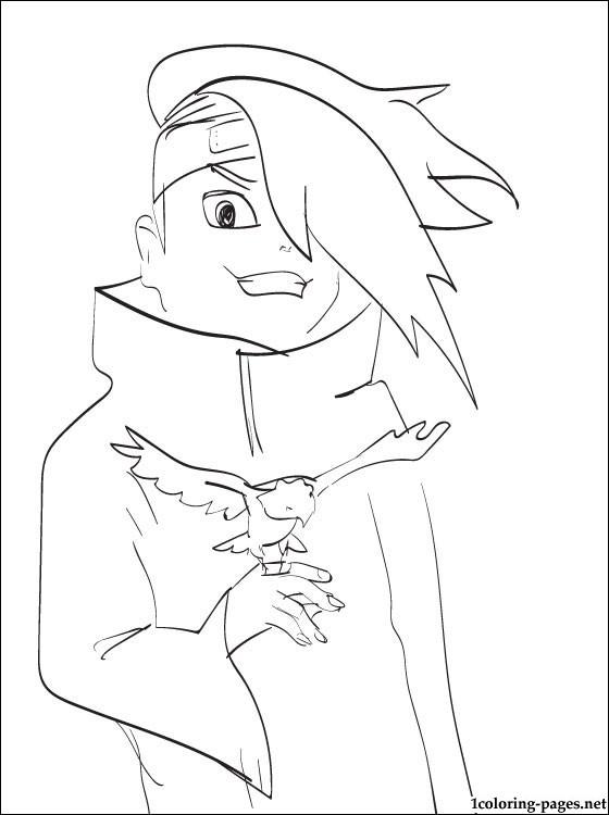 560x750 Deidara Naruto Coloring Page Coloring Pages