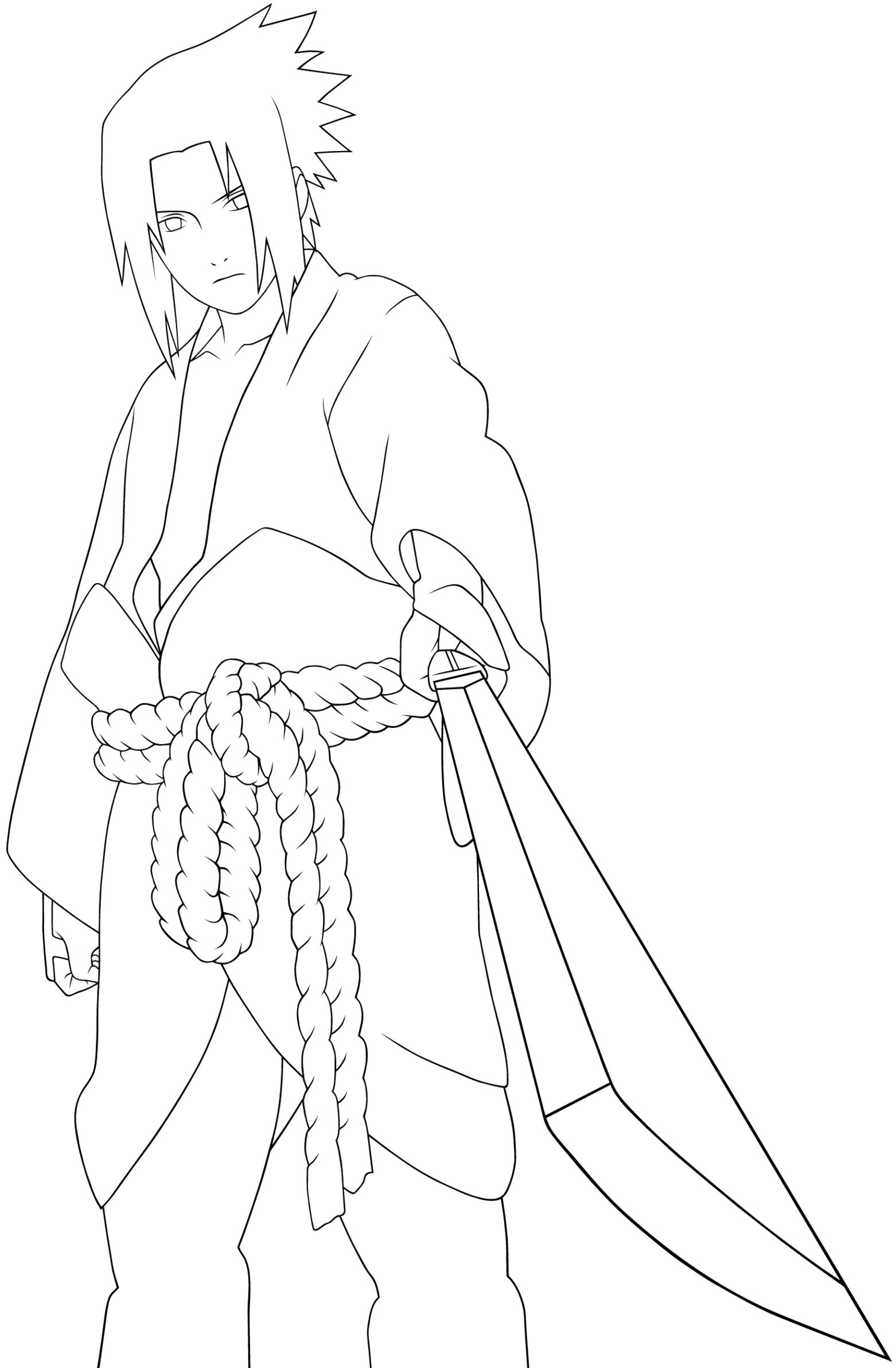 1562x2383 A Very Cool Person Sasuke Coloring Pages Devin
