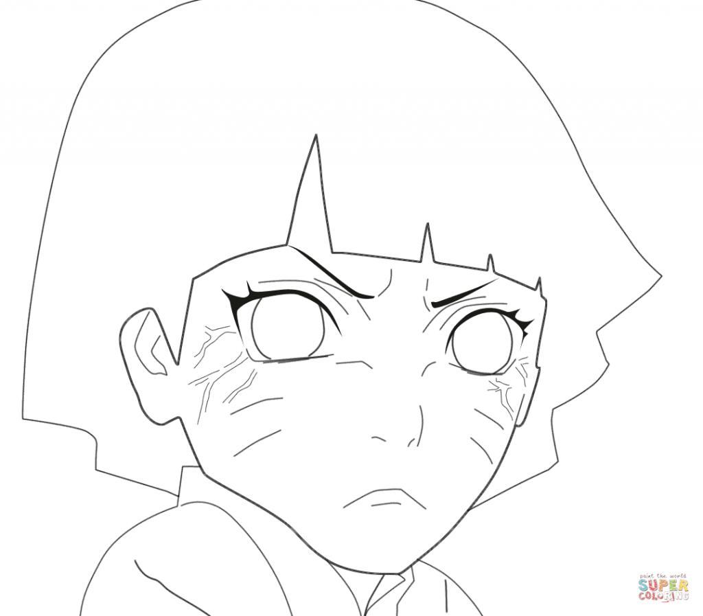 1024x897 Himawari Uzumaki Cartoon Coloring Page