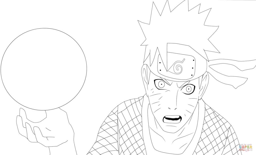 1024x623 Naruto Cartoon Coloring Page