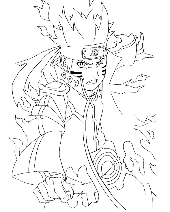 589x736 Naruto Coloring Pages The Sun Flower Pages