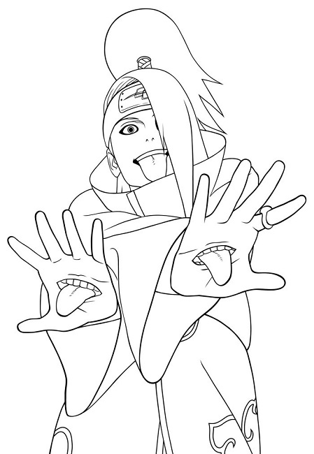 449x650 Naruto Coloring Pages Akatsuki Anime Coloring Pages