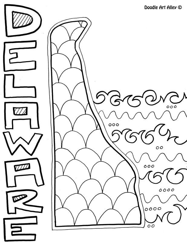618x799 Delaware Coloring Page