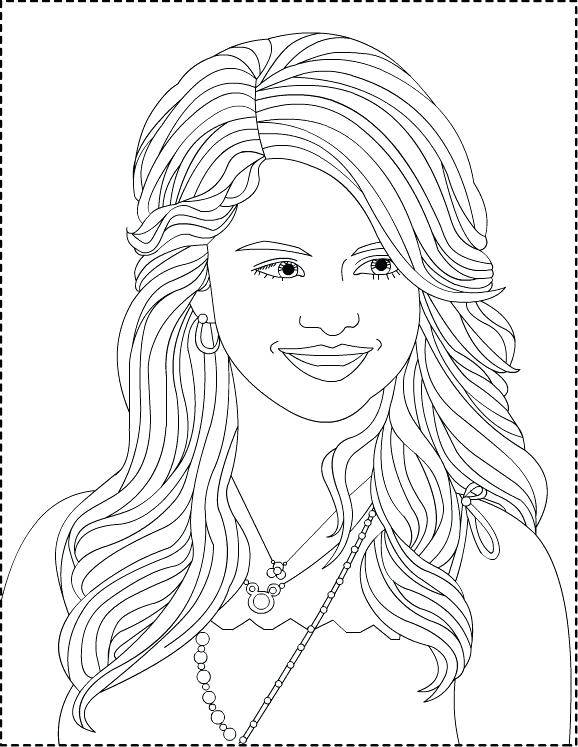578x747 Selena Gomez Coloring Page Coloring Pages Of Impressive Ideas