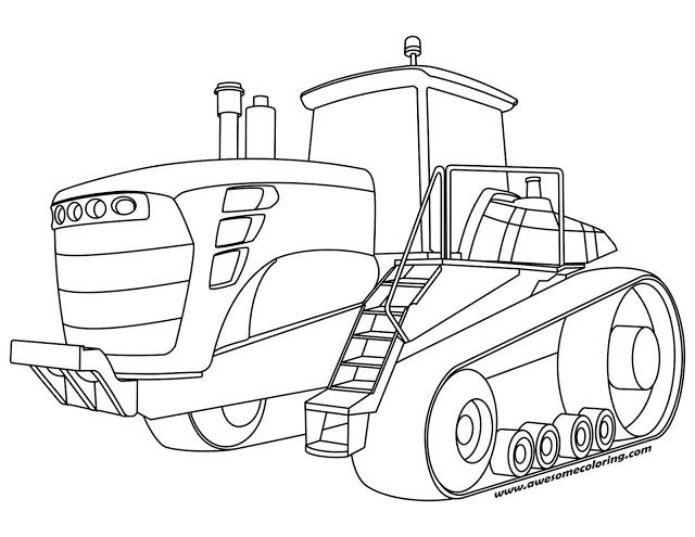 640x495 Awesome John Deere Tractor Coloring Page Ready To Print