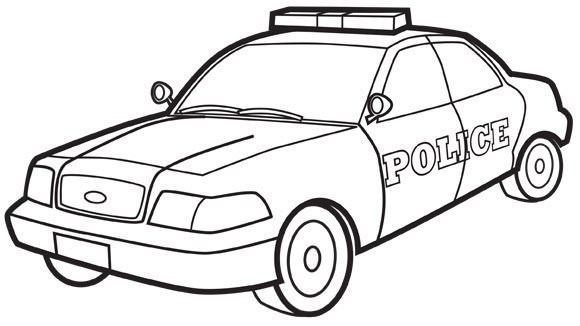 580x326 Police Cars Coloring Pages