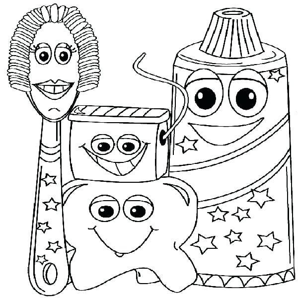 600x600 Dentist Coloring Page Dental Coloring Pages Printable Printable