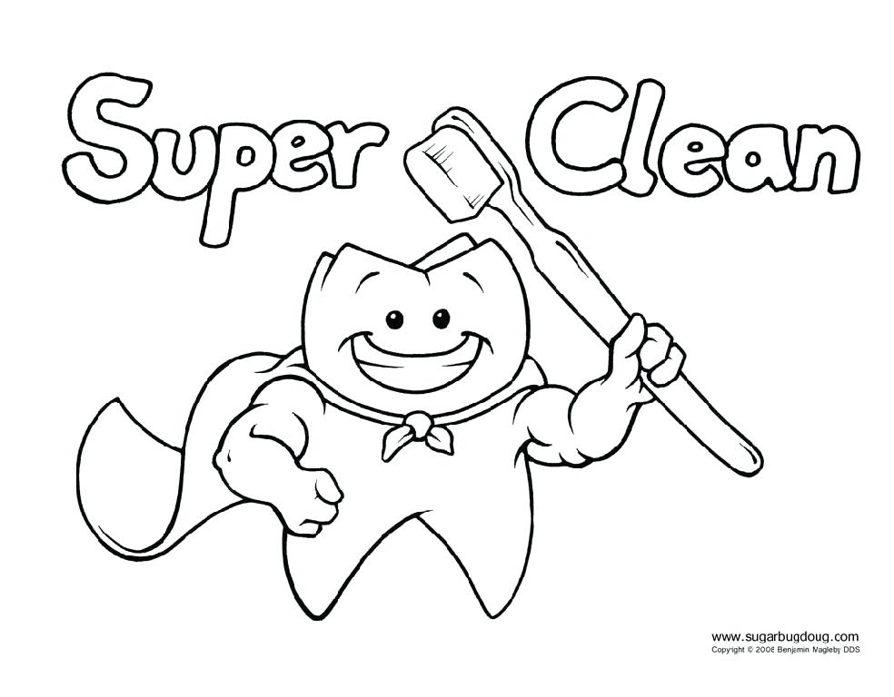 984x768 Good Dental Coloring Pages And Happy Tooth Coloring Pages Image