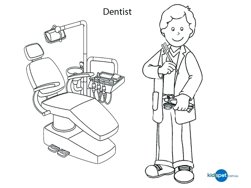 1000x750 Ideas Dentist Coloring Pages For Dental Health Coloring Pages Kids