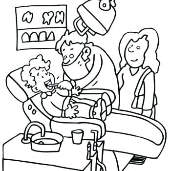 350x350 Stylish Idea Dental Coloring Pages Printable Dentist To Print