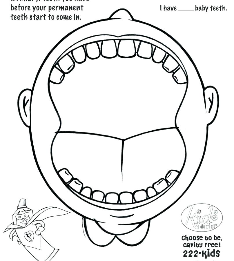 807x900 Teeth Coloring Pages Dental Coloring Pages Printable Homey Design