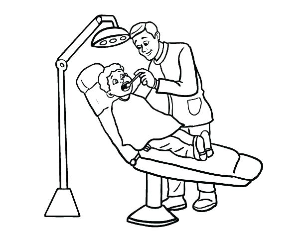 612x470 Dental Coloring Pages For Kids
