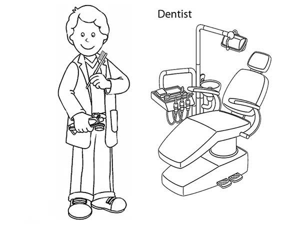 600x450 Dental Health Coloring Pages Kids