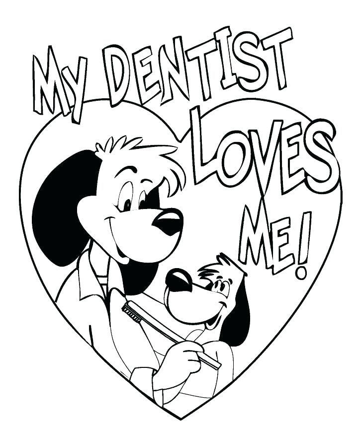 728x854 Coloring Pages Of Teeth Dentist Coloring Pages Together