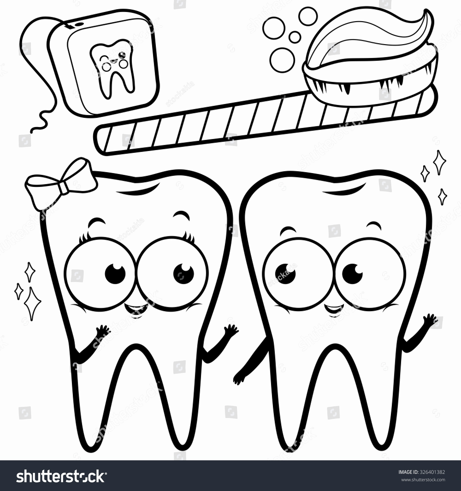 1500x1600 Dental Coloring Pages Dentist Luxury Page Cartoon Teeth Toothbrush