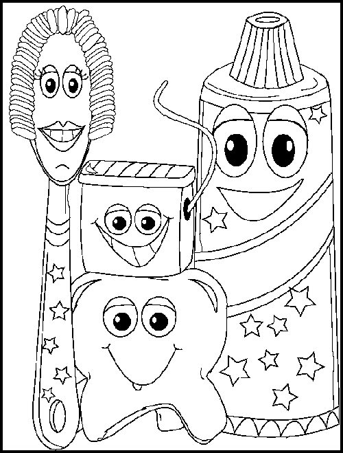 Dental Coloring Pages For Preschool at GetDrawings.com | Free for ...