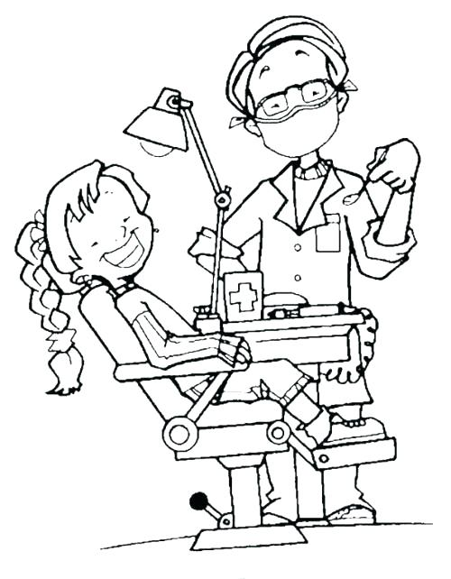 500x642 Teeth Coloring Pages Dentist Coloring An Attractive Dentist