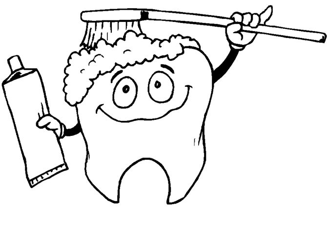 Dental Health Coloring Pages