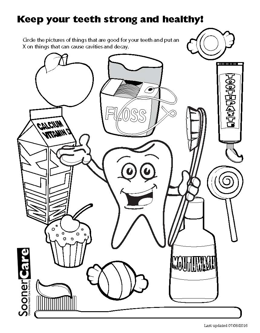 859x1100 Dental Health Coloring Pages Marvelous Idea For Tooth Fairy