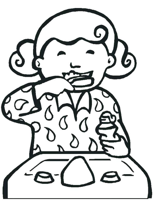 600x800 Dental Health Printable Coloring Pages Johnny Pictures Also Page