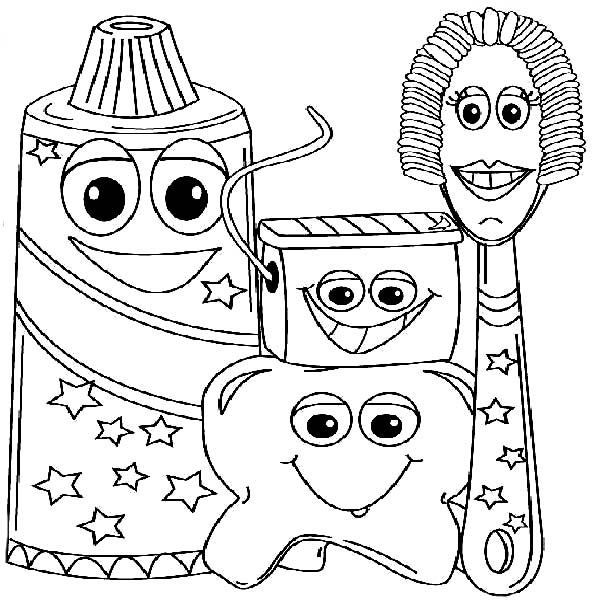 600x600 Example Picture Of Dental Health Coloring Page Color Luna