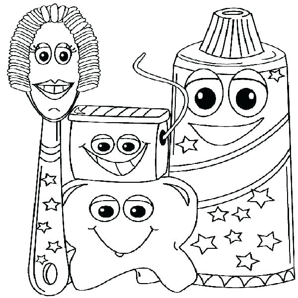600x600 Free Dental Coloring Pages Coloring For Kids Free Dentist Sheets