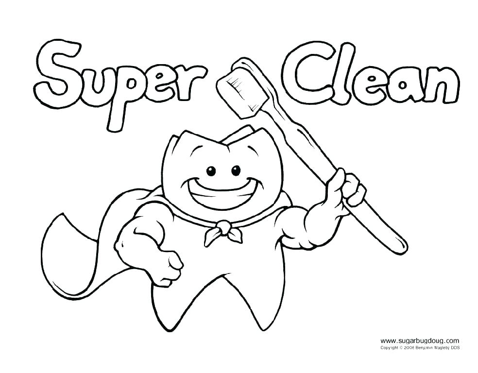 984x768 Health Coloring Pages Free Printable Dental Coloring Pages Also