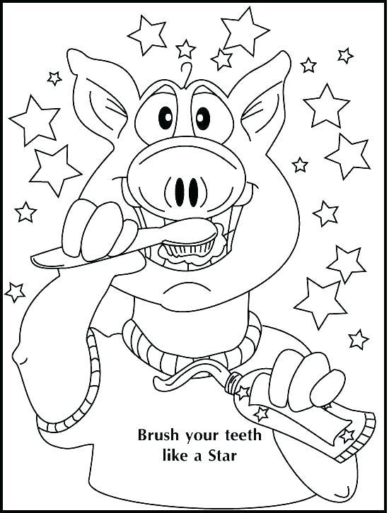 550x726 Dental Coloring Sheets