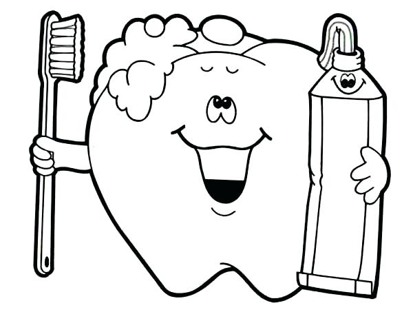 600x453 Coloring Pages Of Teeth Dental Health Brush Your Teeth For Your