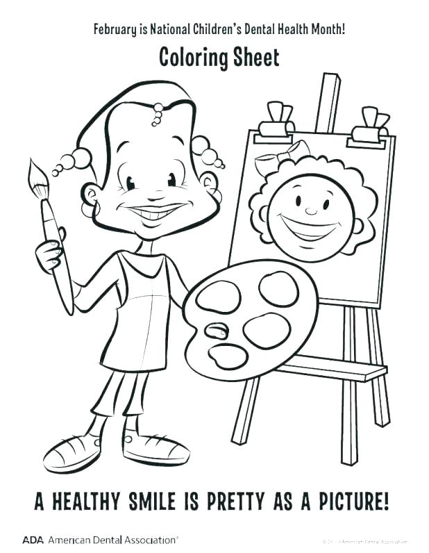 618x796 Dental Coloring Pages Dental Coloring Sheets Dental Health Month