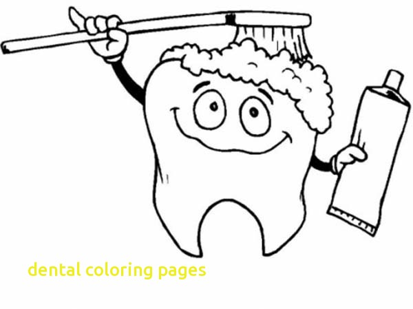 600x449 Dental Coloring Pages With Tooth Brushing Himself In Dental Health