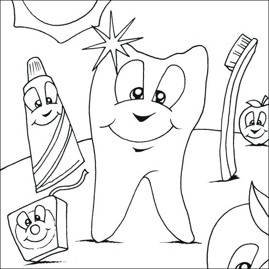 553x553 Dental Hygiene Coloring Pages Best Dental Coloring Pages Images