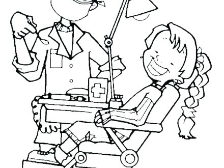 440x330 Dental Hygiene Coloring Pages D Is For Dentist Coloring Pages