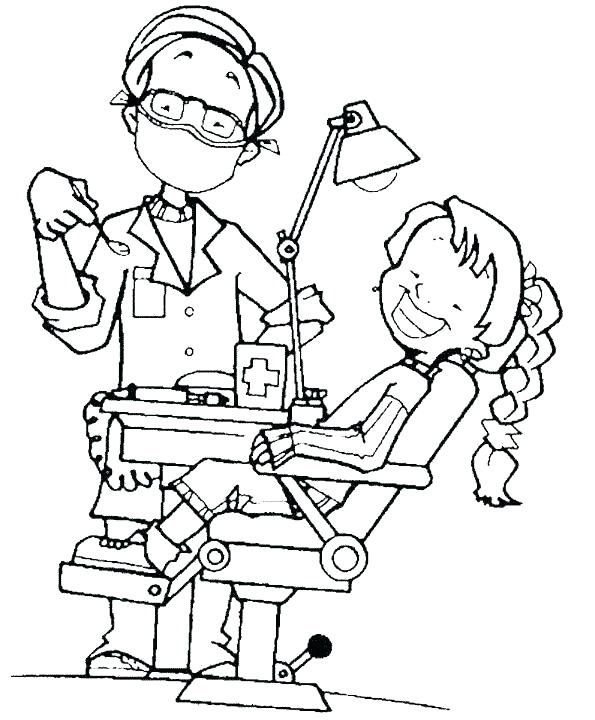 595x720 Dental Hygiene Colouring Pages Coloring Teeth And Page Dentist