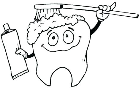 468x350 Dental Hygiene Colouring Pages Kids Coloring Tooth Fairy Coloring