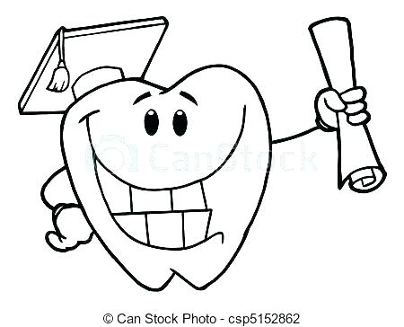 450x364 Dental Pictures To Color Dental Coloring Page Tooth Color Page