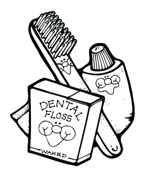 600x719 Hygiene Coloring Pages Hygiene Coloring Page Dental Hygienist