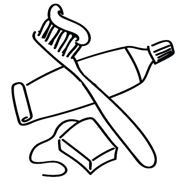600x600 Toothbrush Coloring Page Dental Coloring Pages Packed With Pin